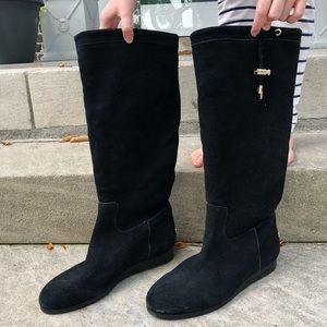 Never Worn Michael Kors Black Suede  Boot Size 38
